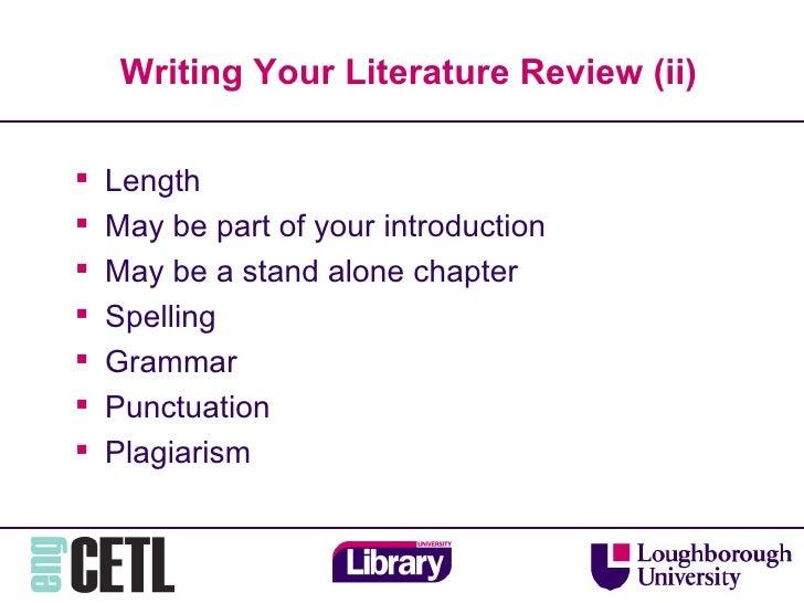 The Pesky Literature Review