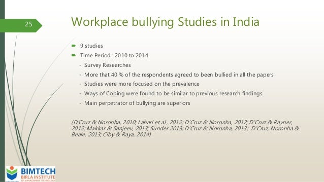 australian workplace bullying case studies Understanding school bullying data drawn from the longitudinal study of australian children found that almost 1 in 3 students aged 10-11 years reported being.