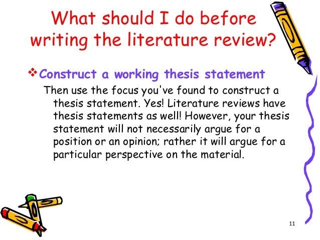 literature review thesis statement