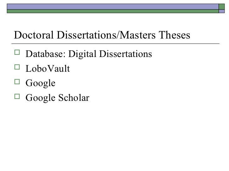 Literature dissertations leading dissertations for