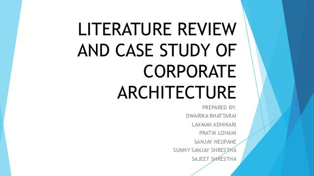 Case study writers literature review
