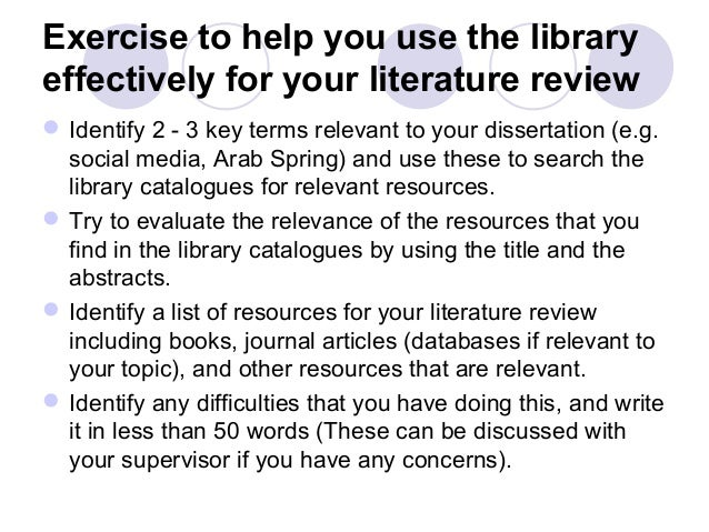 Literature Review and Research Related Problems