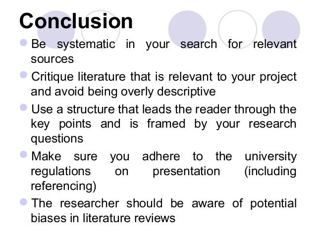 Explain the importance of a literature review in a dissertation
