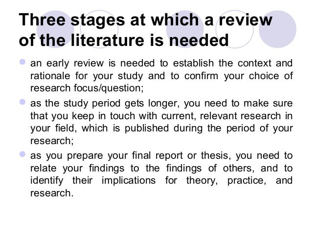 the problem and review of related Literature review is usually longer and it can be a whole work/article or a part of a thesis background section is usually short and the first part of research article for literature review you should thoroughly go through all available studies, assess the important findings in them, discuss them and find some relevance for them.