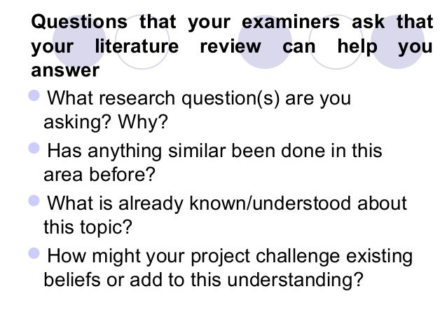 questions to answer when doing a research paper This guide to using qualitative research  a guide to using qualitative research methodology  these methods aim to answer questions about the.