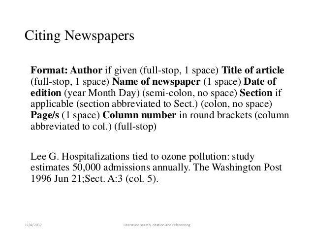 newspaper review format