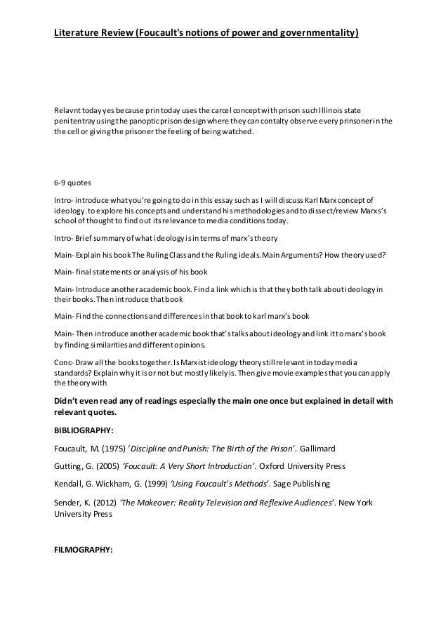 Foucault literature review professional personal essay writers site for college