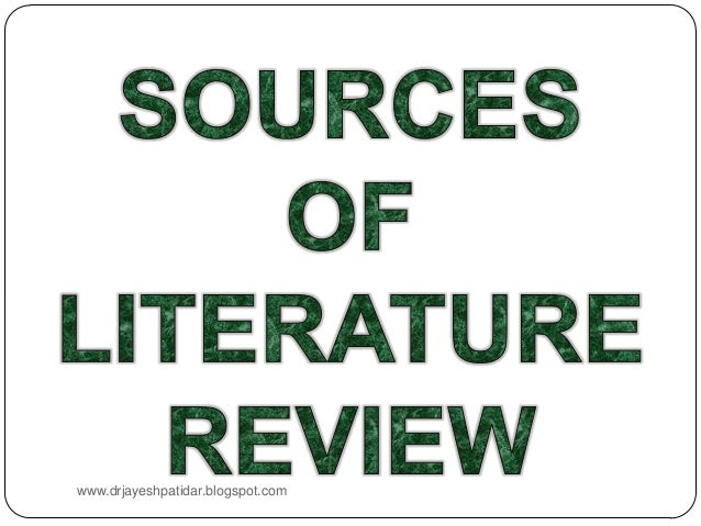 sources of literature review pdf