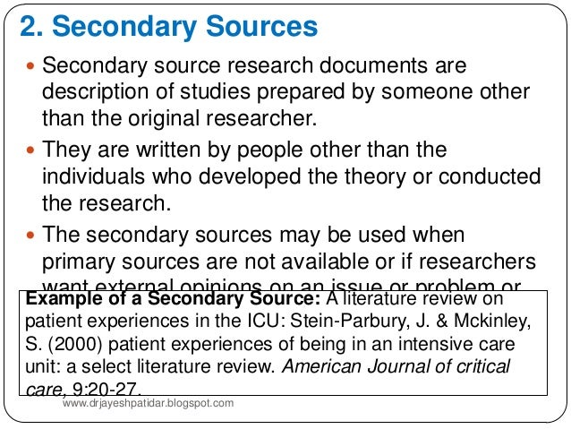 source of literature review
