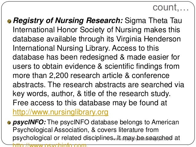 review of literature in nursing research Reviewers of the nursing research literature:  requirements recurring  themes in nursing research ethics are conflicting.