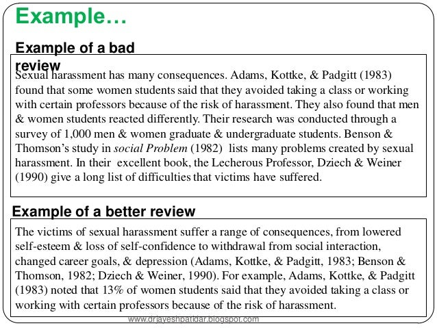 template of a literature review