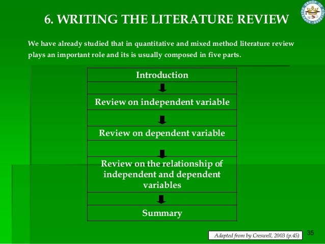 writing literature review engineering