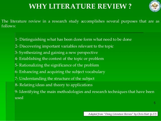 explain the importance of literature review in any research project Literature reviews do more than list if you're writing a literature review as part of a larger research project, the literature review allows you to demonstrate.