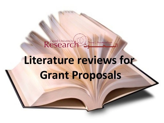Literature reviews for Grant Proposals