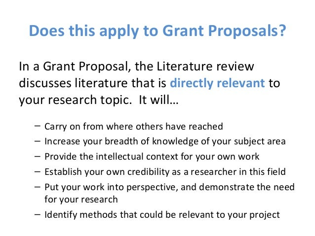 Research Proposal Literature Review Need Method by cun      SlidePlayer research grant proposal literature review