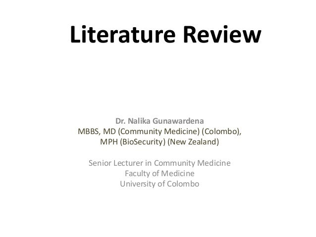 literature review nihs2
