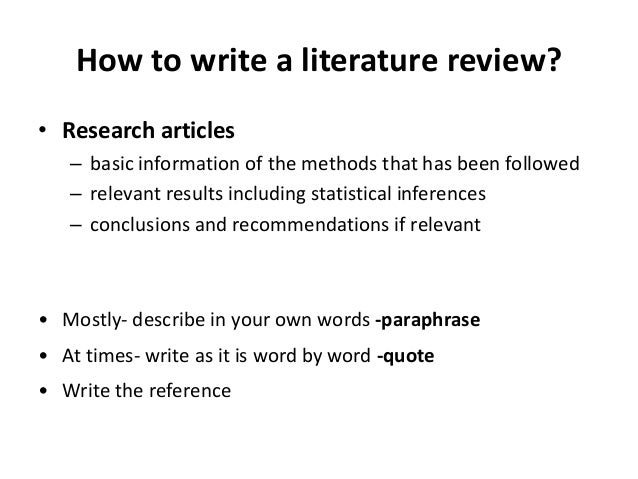 literature review in text citation