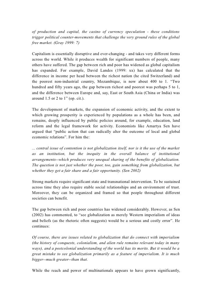 literature review globalization in developing countries