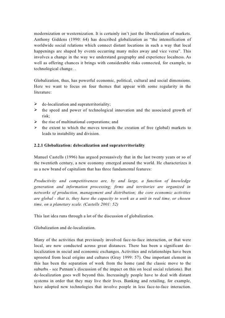 literature and globalization essay