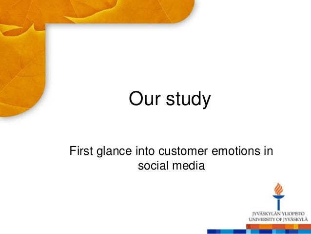 Our study First glance into customer emotions in social media