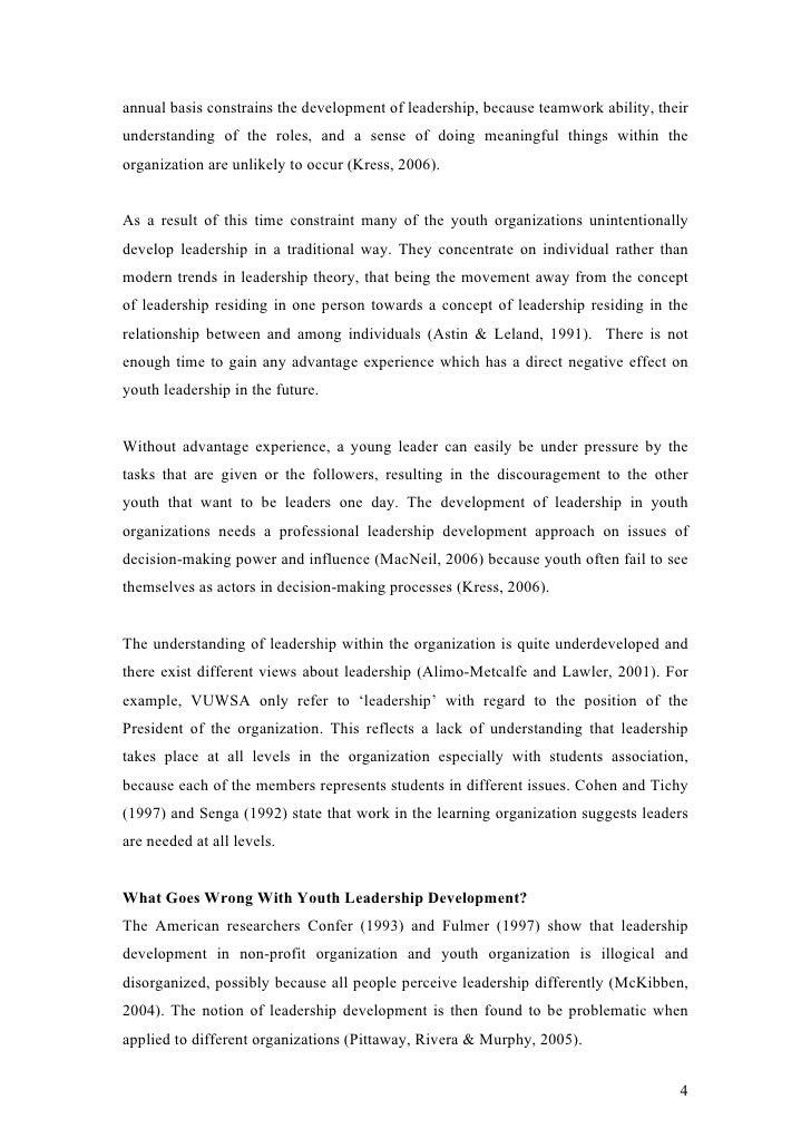 Leadership Essay – Focus on What is Leadership