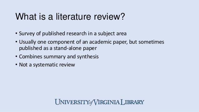 published literature review