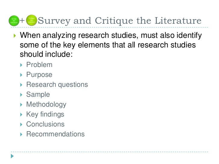 literature review research process Step 2: review the literature now that the problem has been identified, the researcher must learn more about the topic under investigation to do this, the.