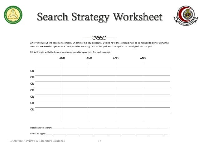 How to write a literature search strategy