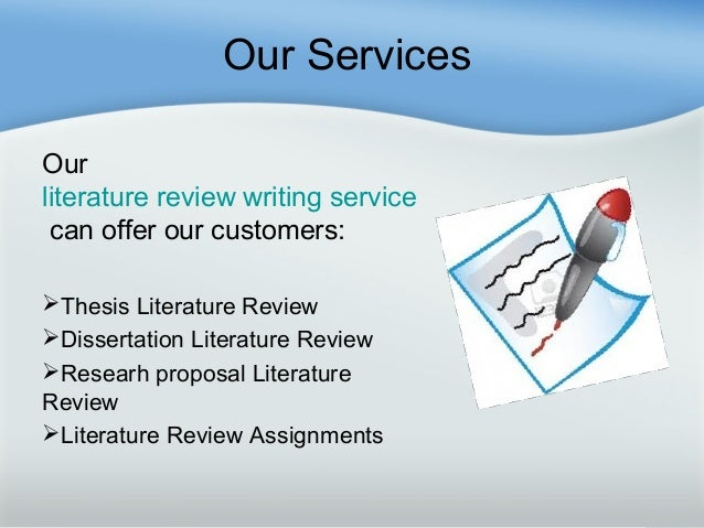 Writing a Literature Review with Our Writing Services