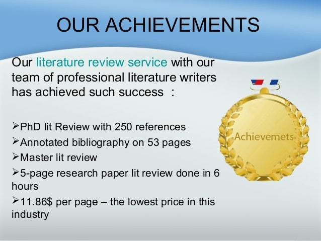Literature review writing services great