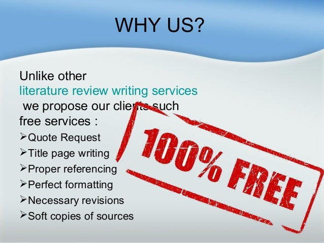 Reliable Literature Review Writing Service