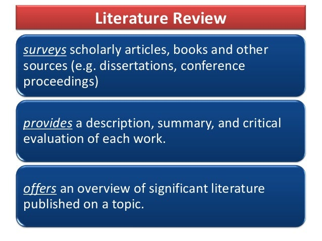Literature review why is it important