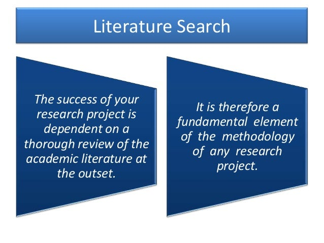 literature searching method From the science student council literature search tips and tricks.