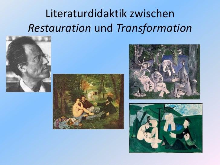 Literatur im da f unterricht  gi amsterdam 2011 Slide 2