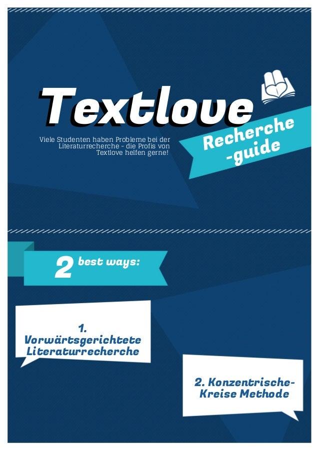 Textlove Viele Studenten haben Probleme bei der  Recherche  -guide  Literaturrecherche - die Profis von  Textlove helfen g...