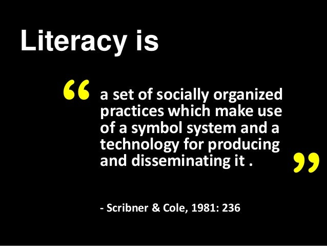 Language and Literacy in Social Practice