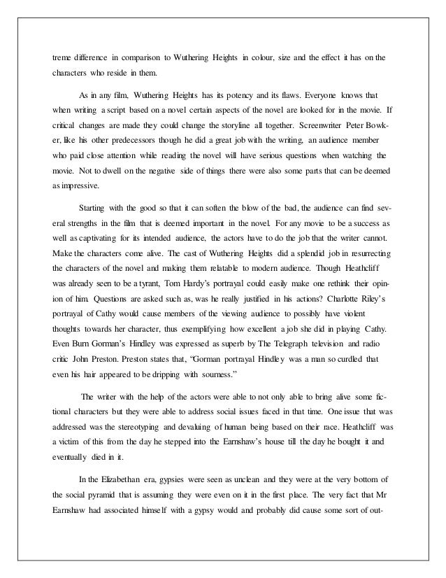lit film review on wuthering heights i a 5 treme