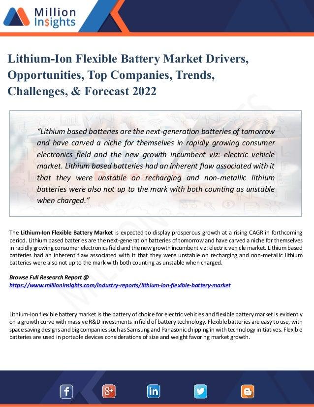 Lithium-Ion Flexible Battery Market Forecasting to Development Ratio …