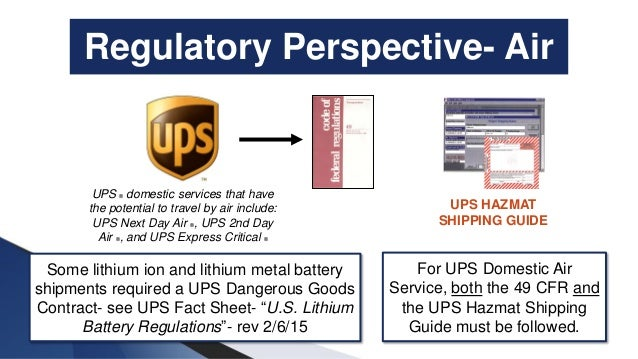 Shipping Lithium Batteries by Ground and Air