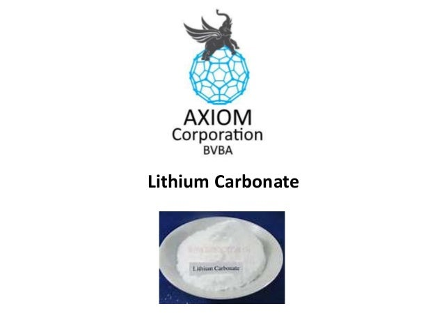 Lithium Carbonate Manufacturer - Axiomcorporate