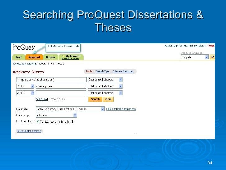 Social Work: PROQUEST DATABASES--Advanced Searching