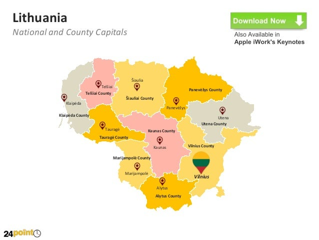 Lithuania Map Download Readymade PowerPoint Slides