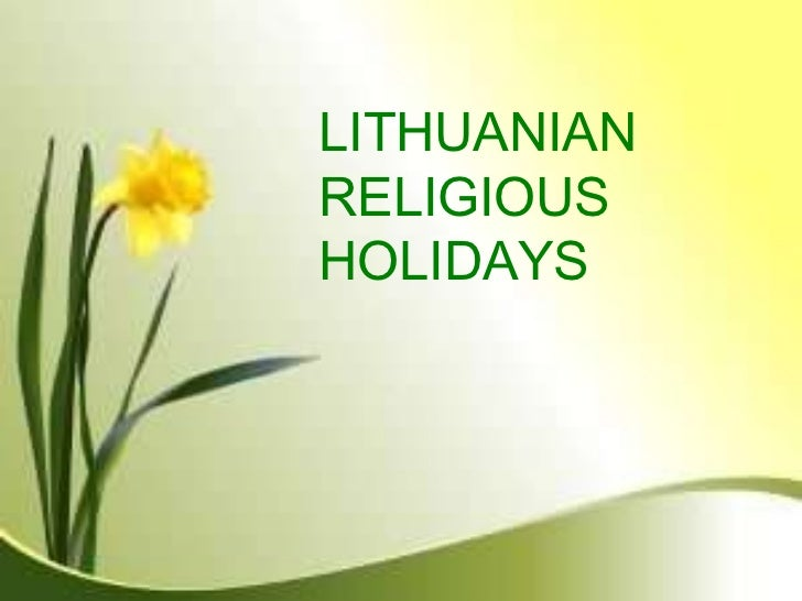 LITHUANIAN  RELIGIOUS HOLIDAYS