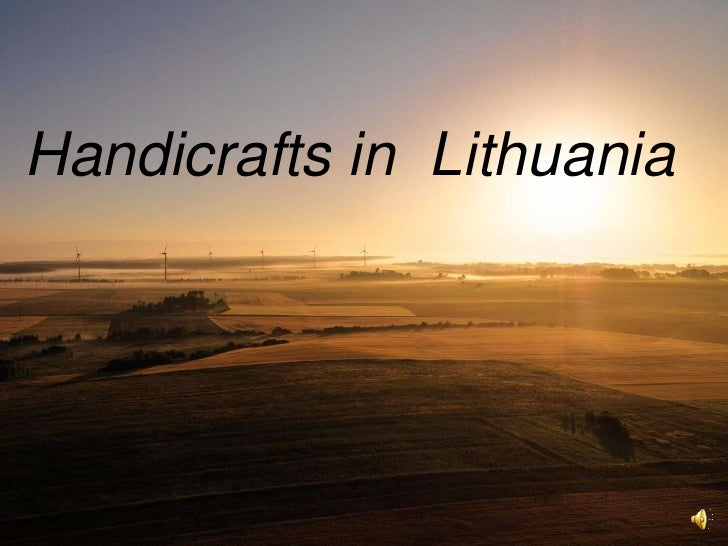 Handicrafts in Lithuania