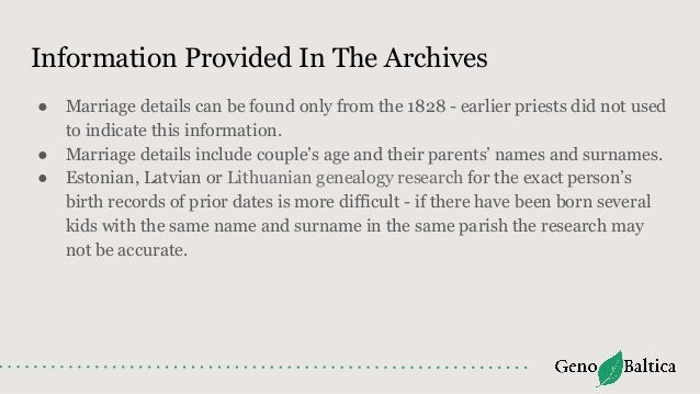 Estonian, Latvian and Lithuanian Genealogy Research - Intro