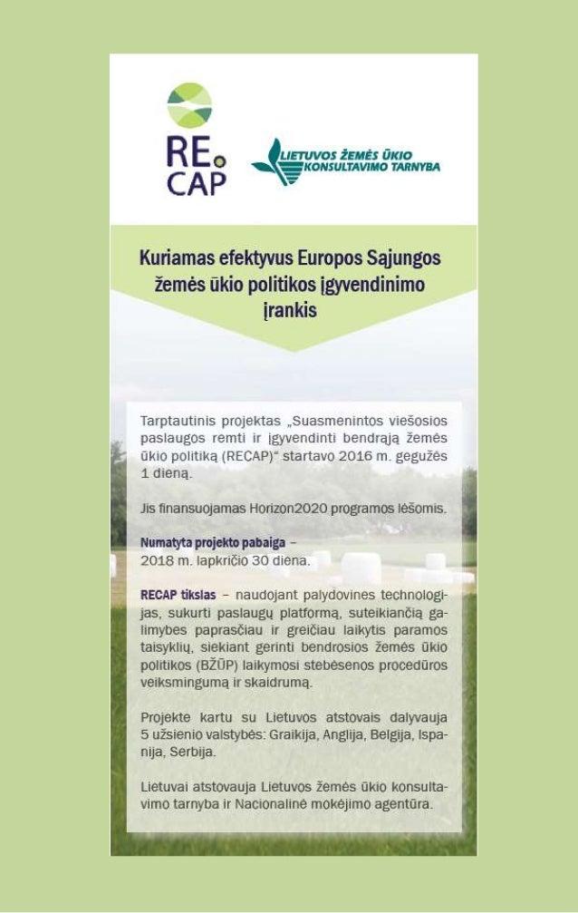 RECAP Horizon 2020 Project - Lithuanian Brochure (version 2)