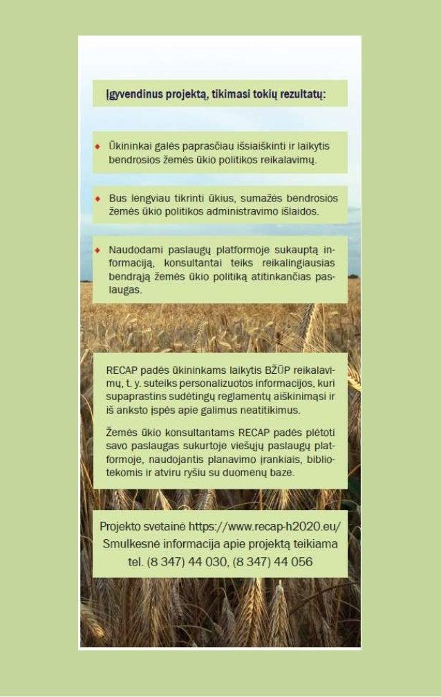 RECAP Horizon 2020 Project - Lithuanian Brochure (version 2) Slide 2