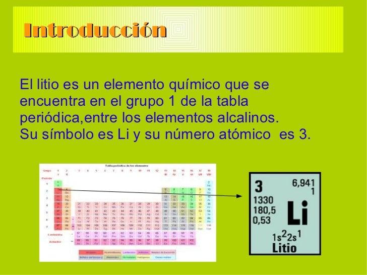 historia del elemento - Tabla Periodica Litio