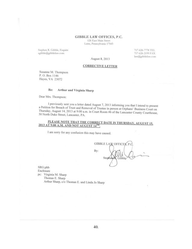 Lititz Pa Attorney Stephen R Gibble Fraud And Real Estate Theft Doc