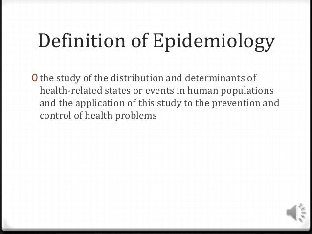 The role of epidemiology in public health.